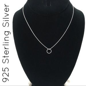 925 Sterling Silver Circle Pendant